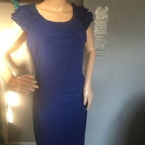 Taylor Royal Blue Shirred Sheath Dress